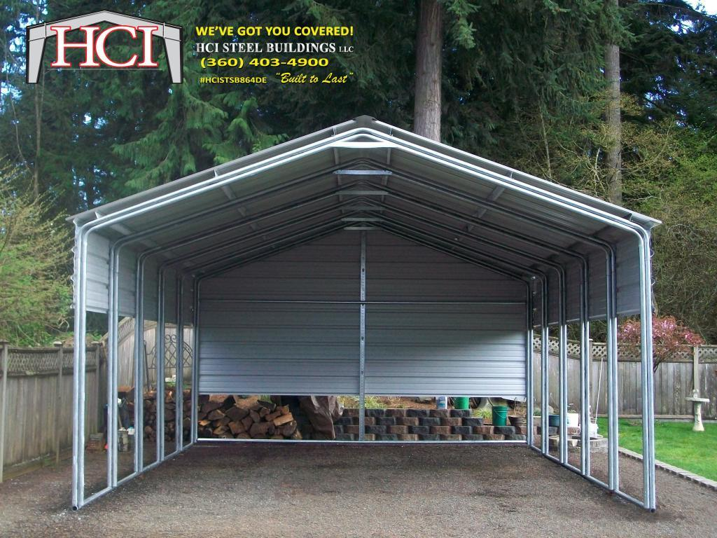 24x26x10 Metalcarport 1 Hci Steel Buildings