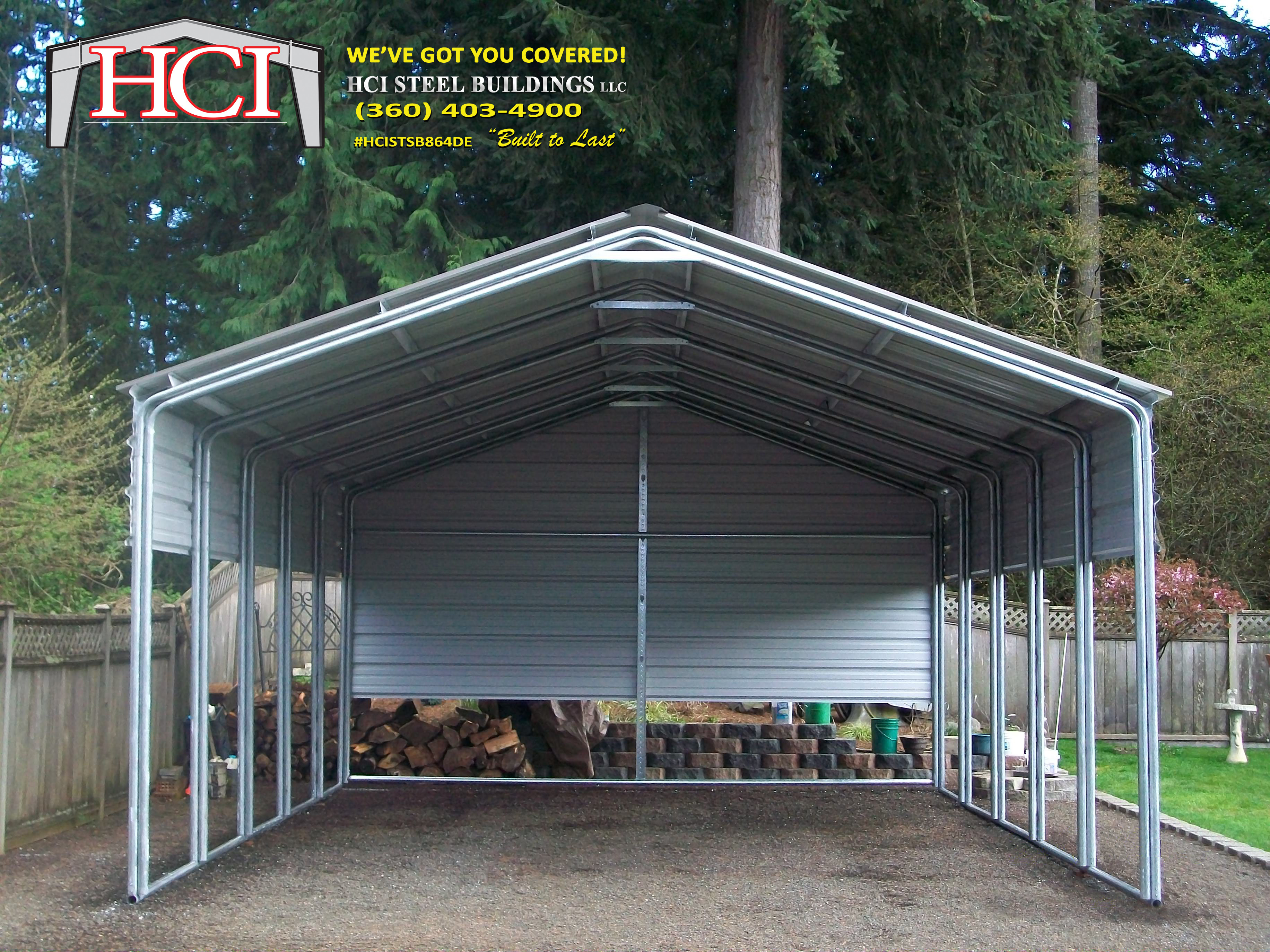24x26x10 MetalCarport (1) - HCI Steel Buildings