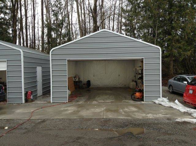 Garage Ash Gray With Trim Hci Steel Buildings