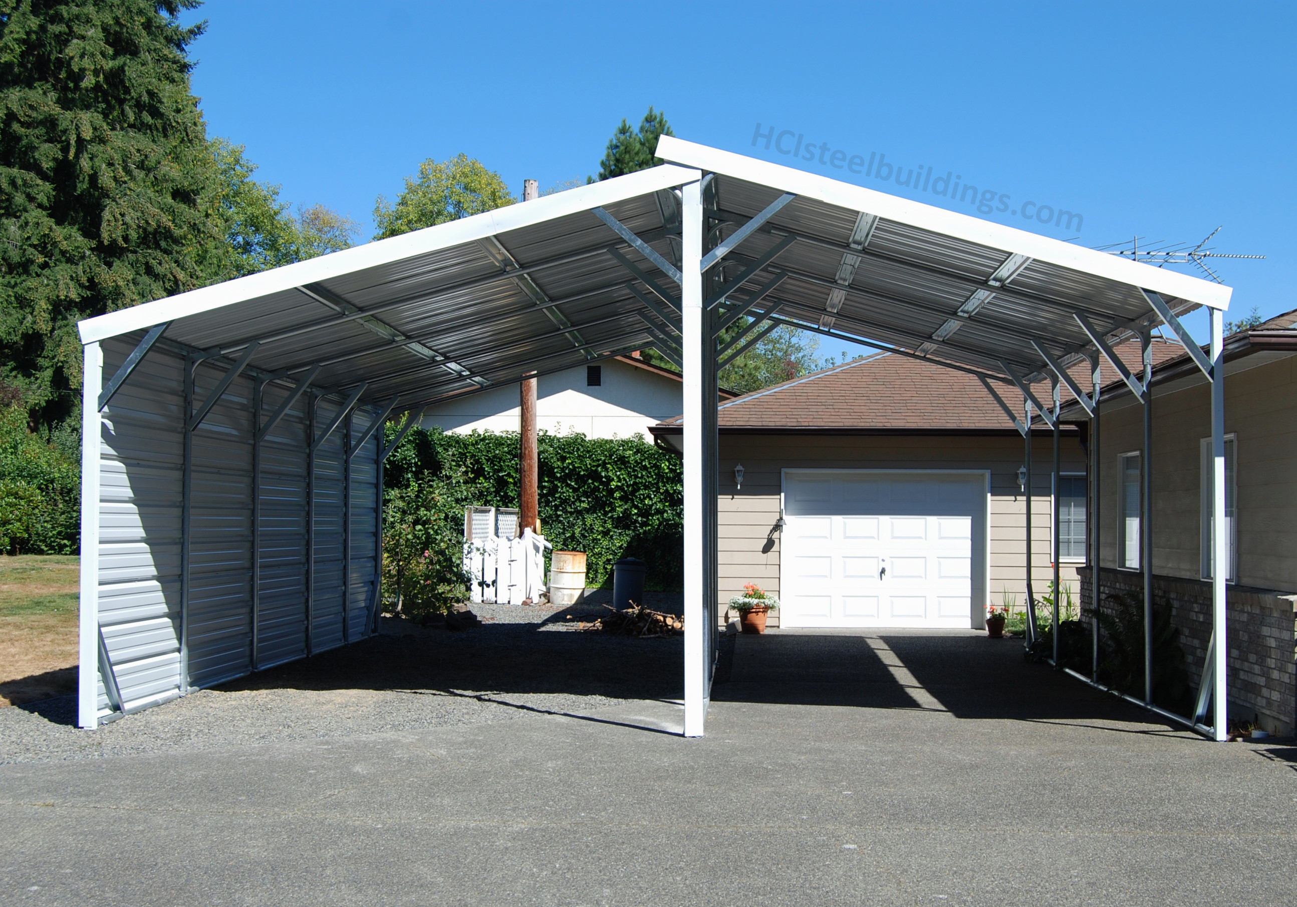 Hci 1458 Two Lean To S Hci Steel Buildings