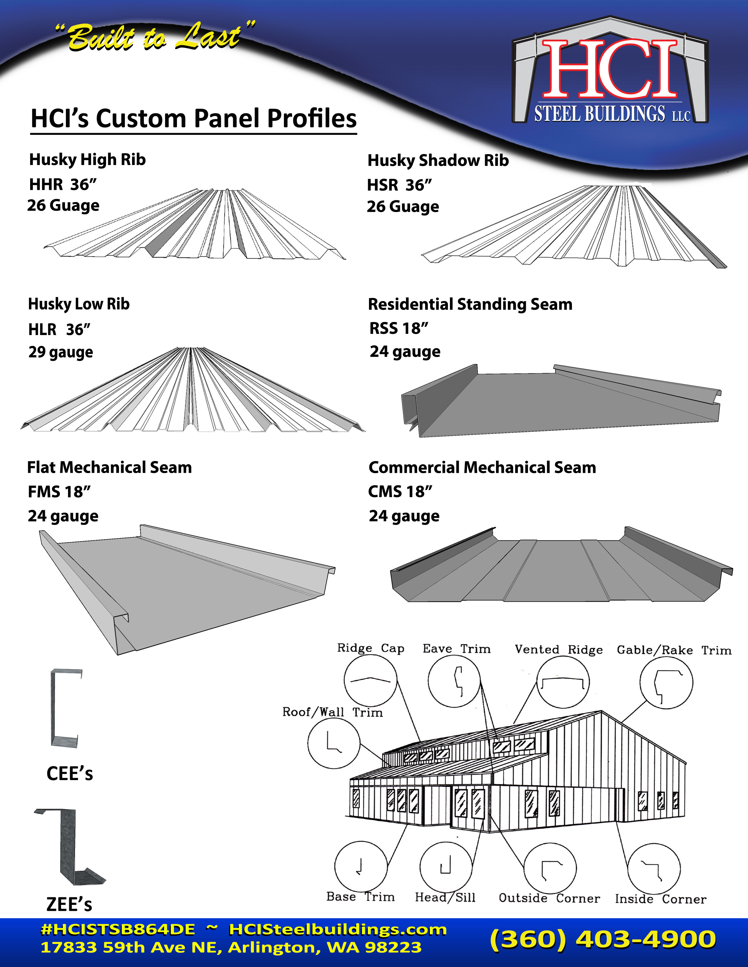 Hci Steel Buildings Manufactures And Delivers Metal Siding